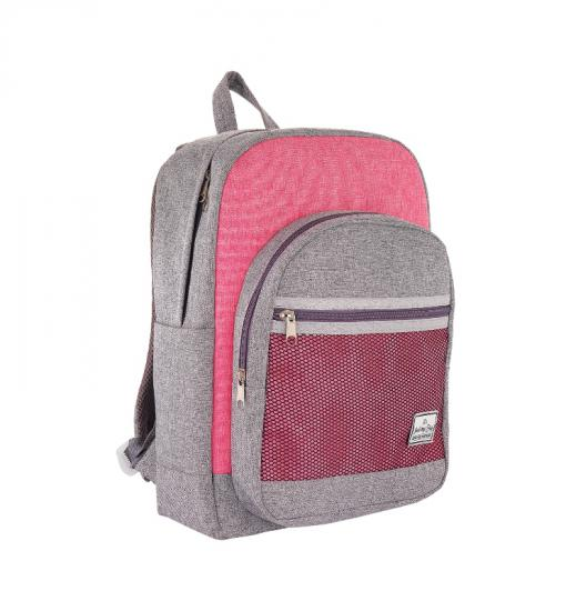 It's Just My Bag File Cepli Sırt Çantası 10065 Gri Pembe